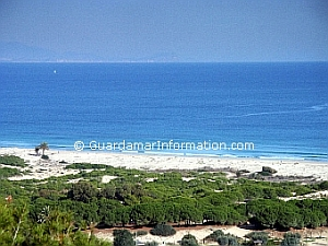 Guardamar beach, on the Costa Blanca, in Spain