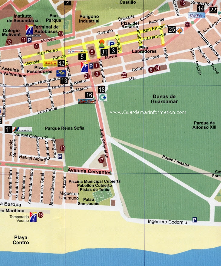 Maps for Guardamar