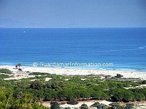 Guardamar beach, on the Costa Blanca, in Spain